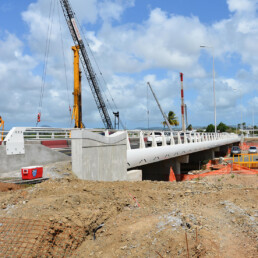 Proyecto Pont Lézarde-échangeur Aéroport - Barreras de contención en METALESA