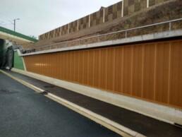 Projet revetement acoustique de mur beton